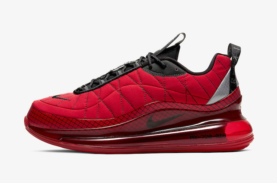 Where To Buy 2020 Mens Wholesale Cheap Nike Air MX 720-818 University Red Black-Reflect Silver CI3871-600
