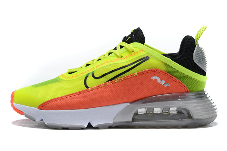 Where To Buy 2020 Mens Wholesale Cheap Nike Air Max 2090 Orange Fluorescent Green Black White