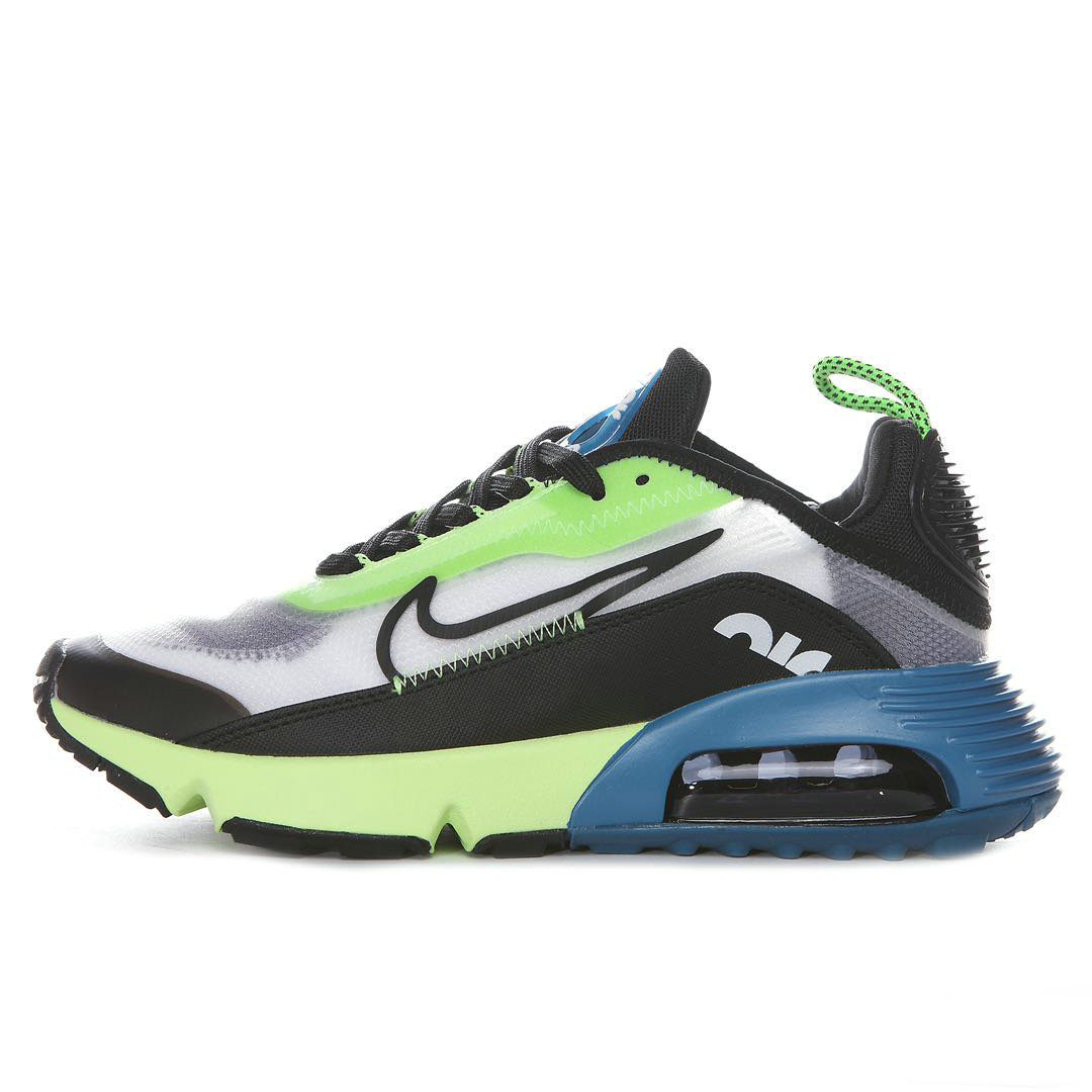 Where To Buy 2020 Mens Wholesale Cheap Nike Air Max 2090 White Black-Volt-Blue Force BV9977-101