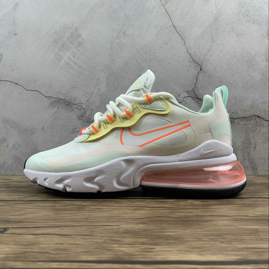 Where To Buy 2021 Cheapest Nike Air Max 270 React Pale Ivory Summit White Green CV8818-102