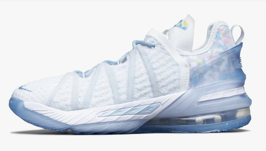 Where To Buy 2021 Cheapest Nike LeBron 18 Play for the Future Blue Tint Clear-White CW3156-400