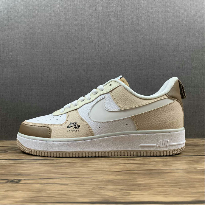 Where To Buy 2022 Wholesale Cheap Nike Air Force 1 07 Low Premium Beige Brown White CV3039-101