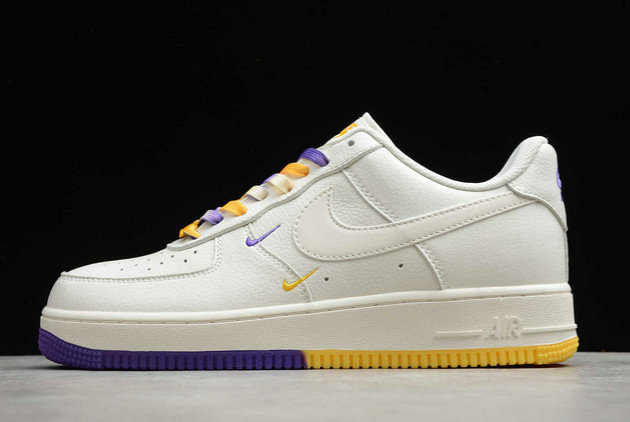 Where To Buy 2022 Wholesale Cheap Nike Air Force 1 07 Low SU19 AF1 White Purple Yellow CT1989-106