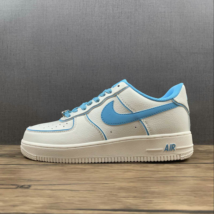 Where To Buy 2022 Wholesale Cheap Nike Air Force 1 07 Low Su19 Blue White Metallic Sliver UH8958-066