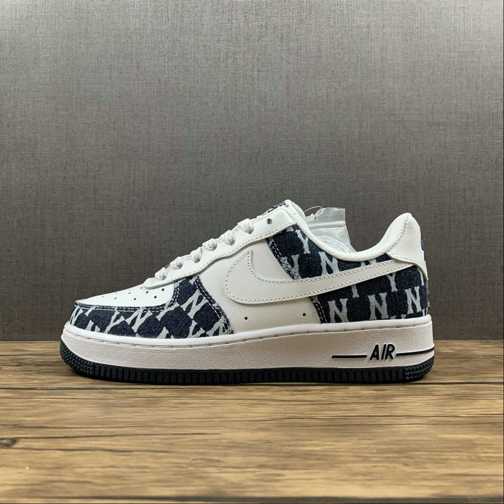 Where To Buy 2022 Wholesale Cheap Nike Air Force 1 07 Low White DK.Blue Canvas Blanc 315122-441