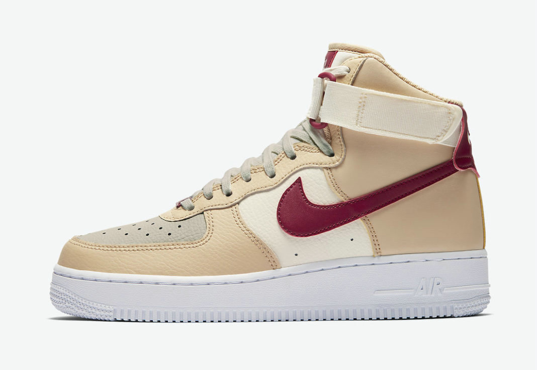 Where To Buy 2022 Wholesale Cheap Nike Air Force 1 High White Onyx Noble Red-Pale Ivory-White 334031-200
