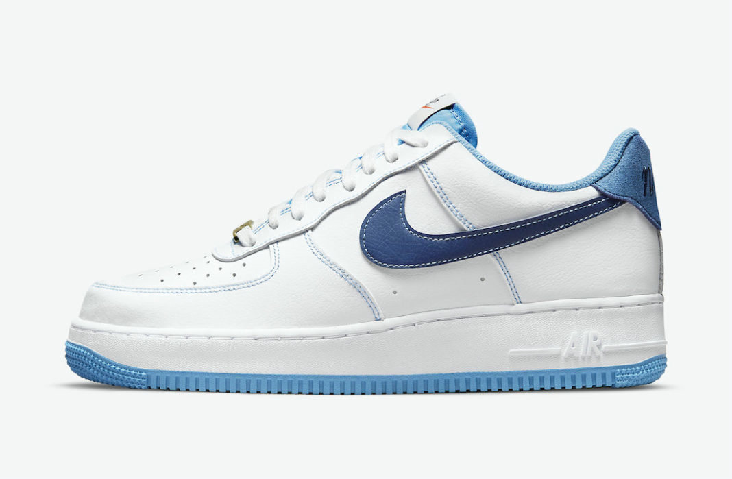 Where To Buy 2022 Wholesale Cheap Nike Air Force 1 Low First Use White University Blue-Sail-Deep Royal Blue DA8478-100