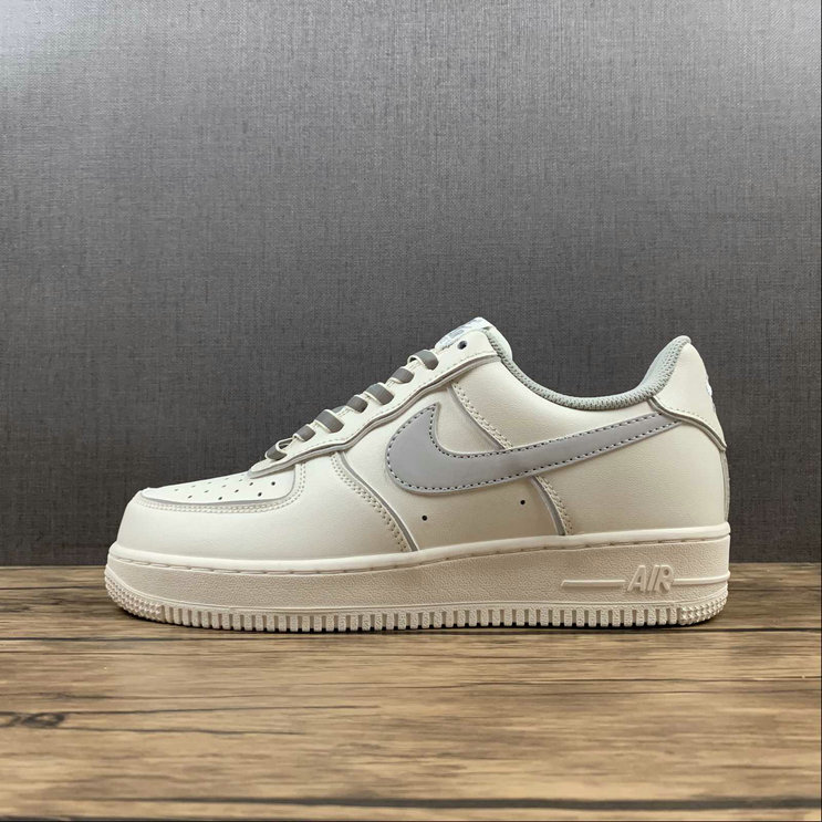 Where To Buy 2022 Wholesale Cheap Nike Air Force 1 Low White Metallic Sliver Shoes BQ8228-366