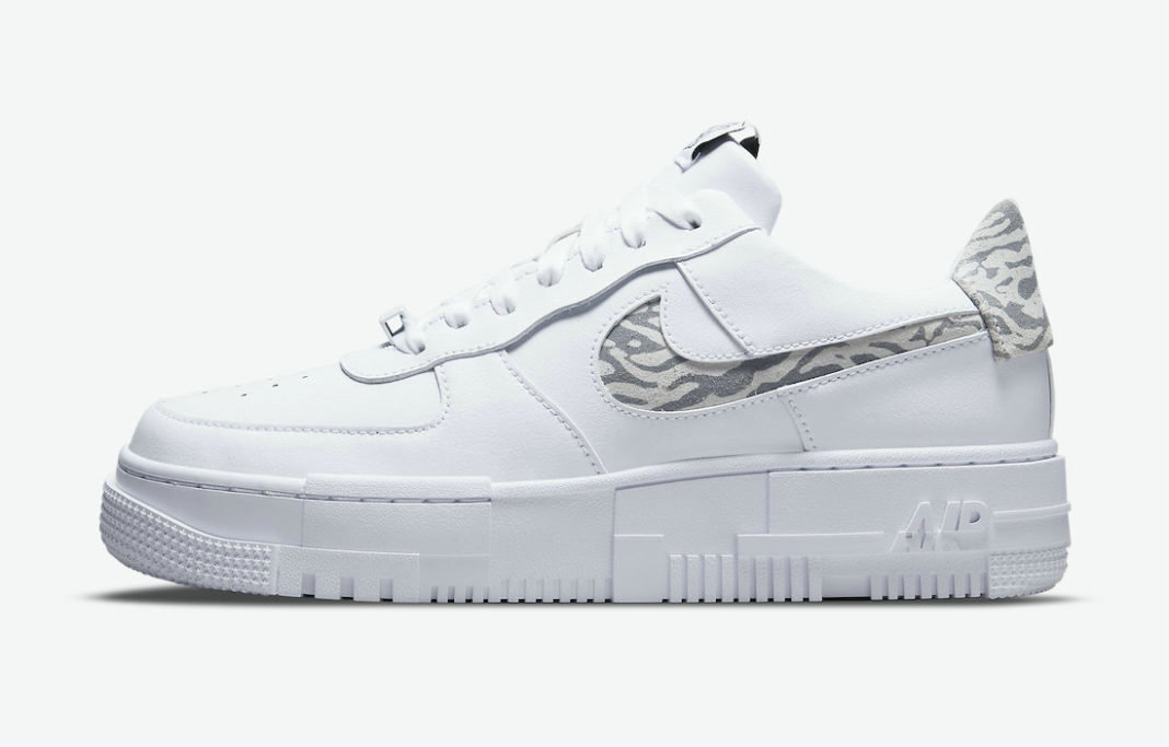 Where To Buy 2022 Wholesale Cheap Nike Air Force 1 Pixel Zebra White Particle Grey-Summit White DH9632-100