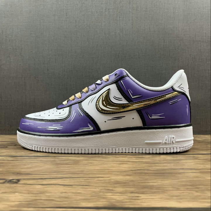 Where To Buy 2022 Wholesale Cheap Nike Air Force 1 Purple Gold White Violet Or Blanc CW2288-216