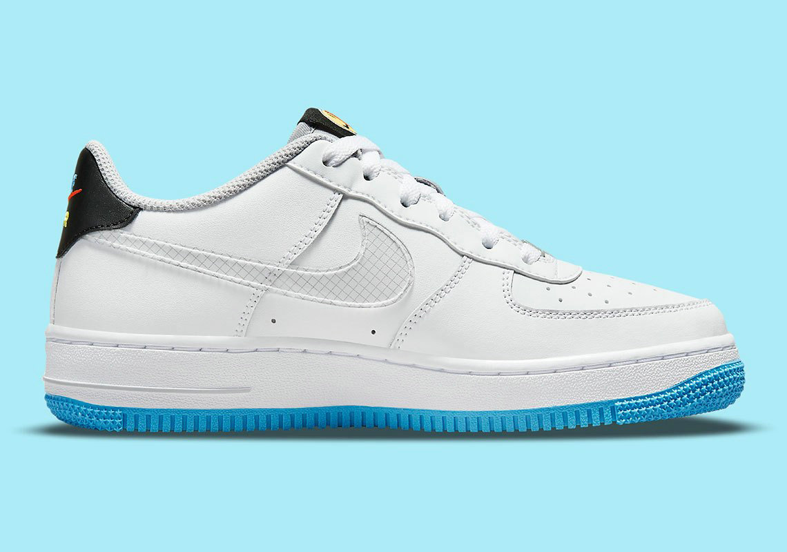 Where To Buy 2022 Wholesale Cheap Nike Air Force 1 Sticker White Wolf Grey Black Multi-Color DM8088-100