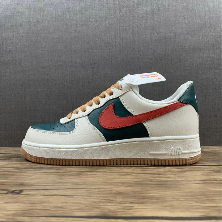 Where To Buy 2022 Wholesale Cheap Nike Air Force 1 White Grass Green Red Blanc Turquoise Rouge CT7875-994