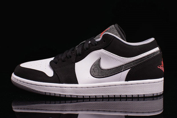 Where To Buy 2022 Wholesale Cheap Nike Air Jordan 1 Low Canvas Swoosh White Black-Wolf Grey-Infrared 23 553558-029