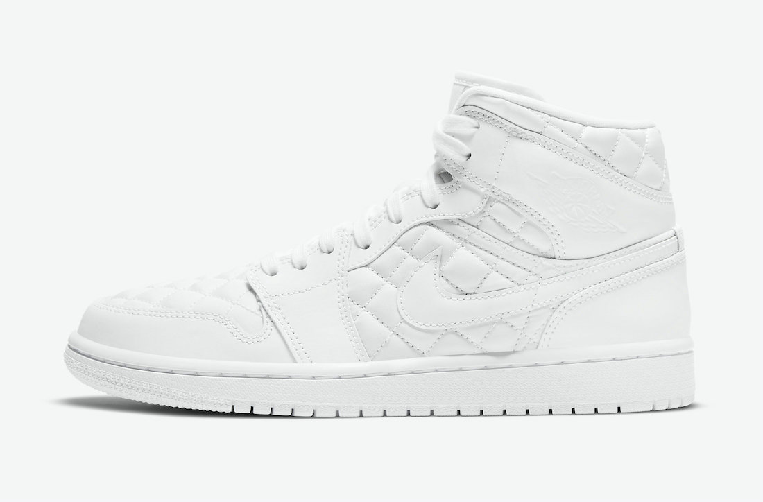 Where To Buy 2022 Wholesale Cheap Nike Air Jordan 1 Mid SE White Quilted Black DB6078-100