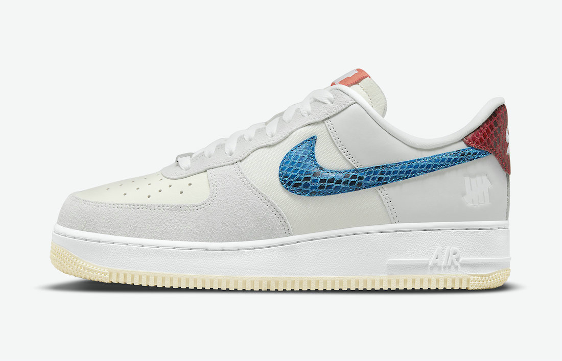 Where To Buy 2022 Wholesale Cheap Undefeated x Nike Air Force 1 5 On It Grey Fog Imperial Blue DM8461-001