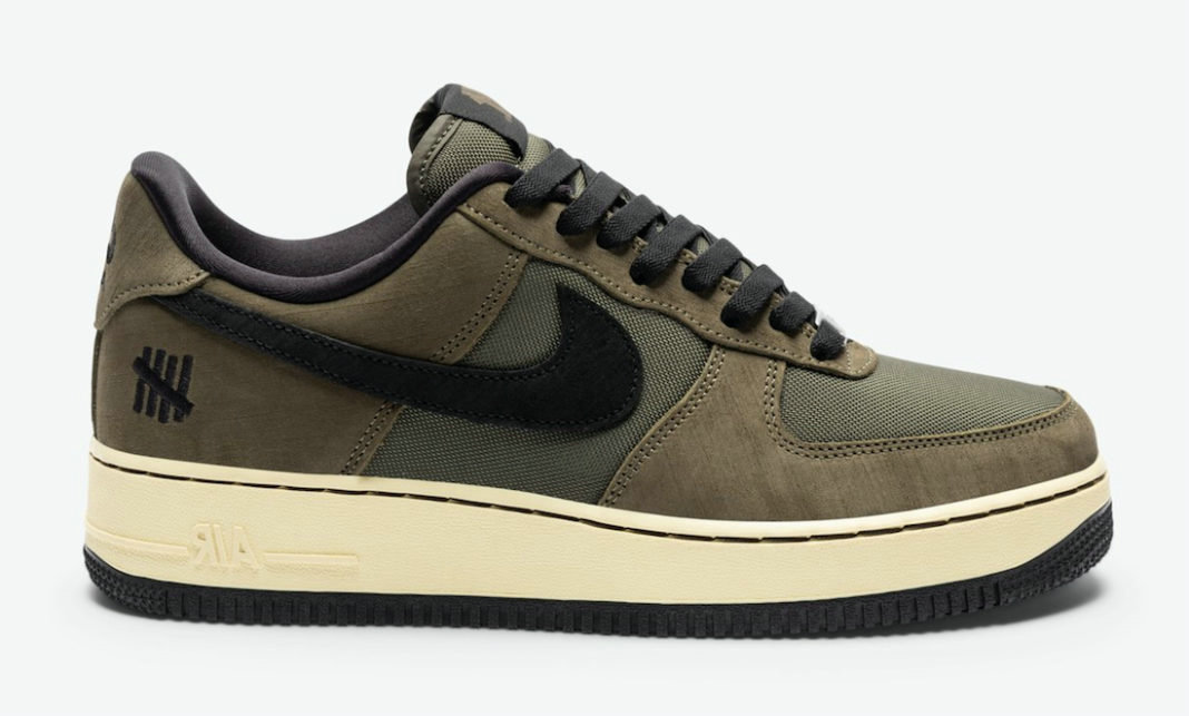 Where To Buy 2022 Wholesale Cheap Undefeated x Nike Air Force 1 Low Dunk vs AF1 Cargo Khaki Black DH3064-300