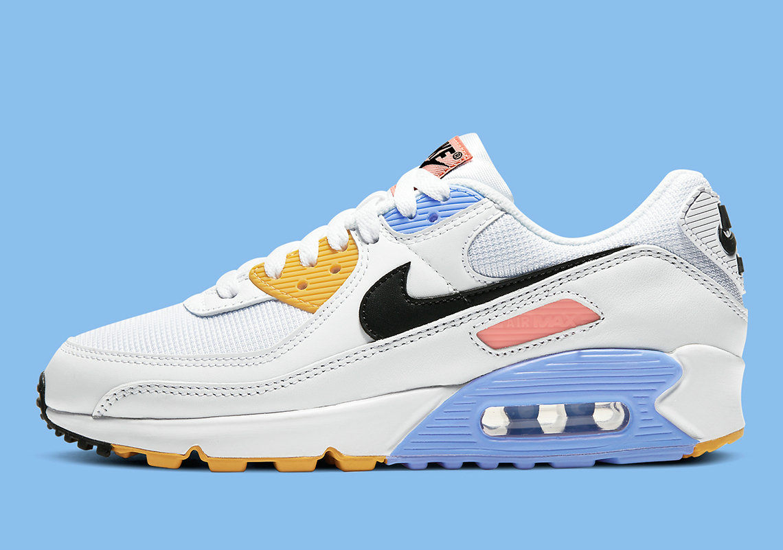 Where To Buy 2022 Wholesale Cheap Womens Nike Air Max 90 Pure Platinum Solar Flare CZ3950-100