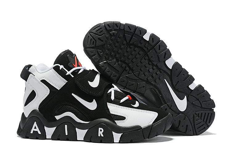 Where To Buy Cheap Nike Air Barrage Mid Black White Gym Red