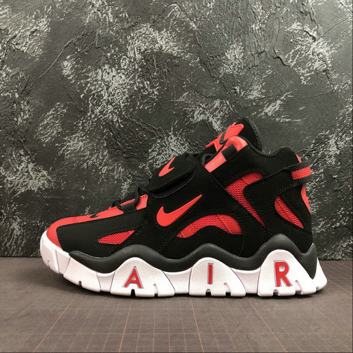 Where To Buy Cheap Nike Air Barrage Mid QS University Red Black-White CD9329-006