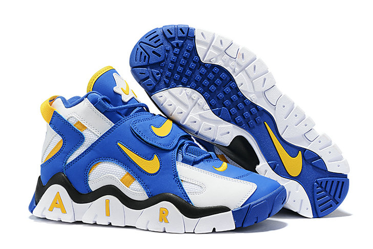 Where To Buy Cheap Nike Air Barrage Mid White Laser Orange-Racer Blue-Black AT7847-100