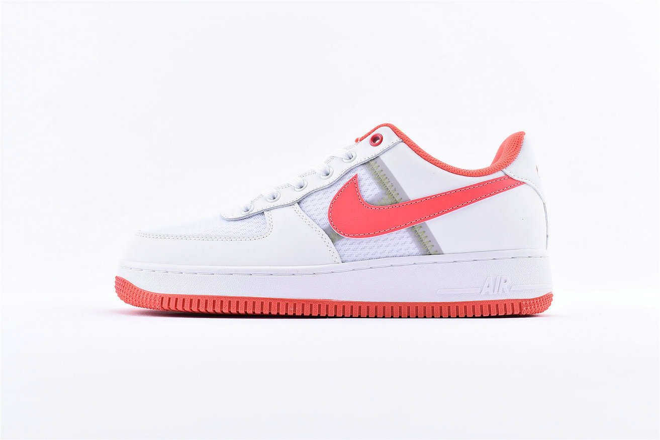 Where To Buy Cheap Nike Air Force 1 Low White Bright Crimson-Barely Volt CI0060-102
