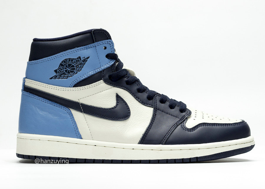 Where To Buy Cheap Nike Air Jordan 1 Retro High OG Sail Obsidian-University Blue 555088-140