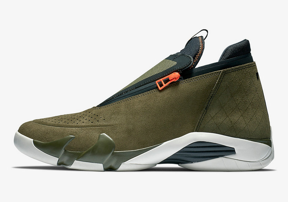 Where To Buy Cheap Nike Air Jordan 14 Jumpman Zipper Olive Green
