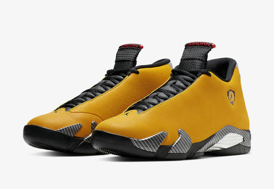 Where To Buy Cheap Nike Air Jordan 14 SE Reverse Ferrari University Gold Black-University Red BQ3685-706