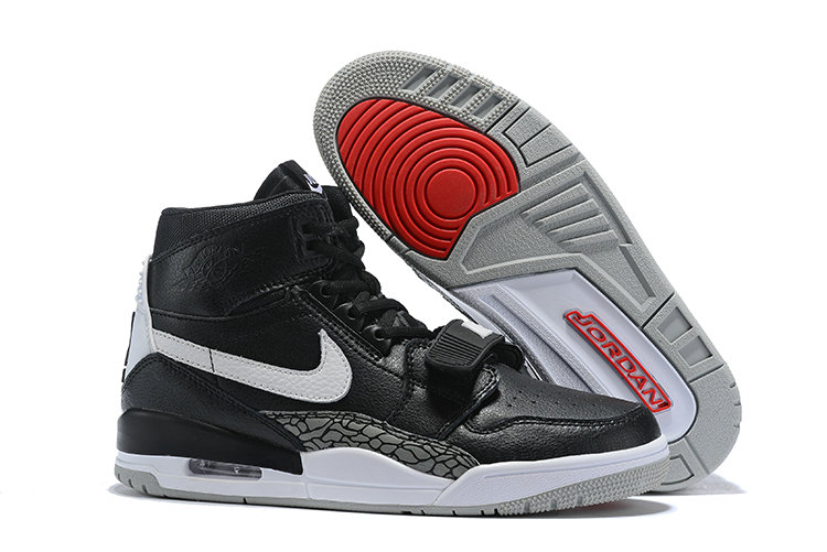 Where To Buy Cheap Nike Air Jordan Legacy 312 Black Varsity Red-Black-Cement Grey