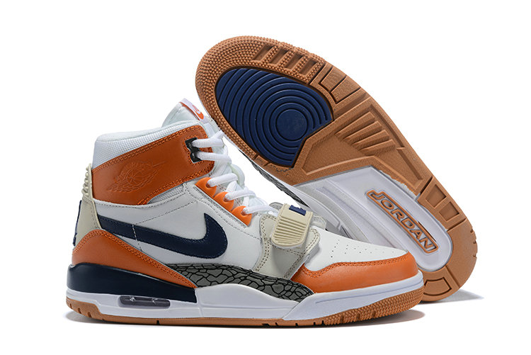 Where To Buy Cheap Nike Air Jordan Legacy 312 NRG Medicine Ball White Midnight Navy Ginger AQ4160-140