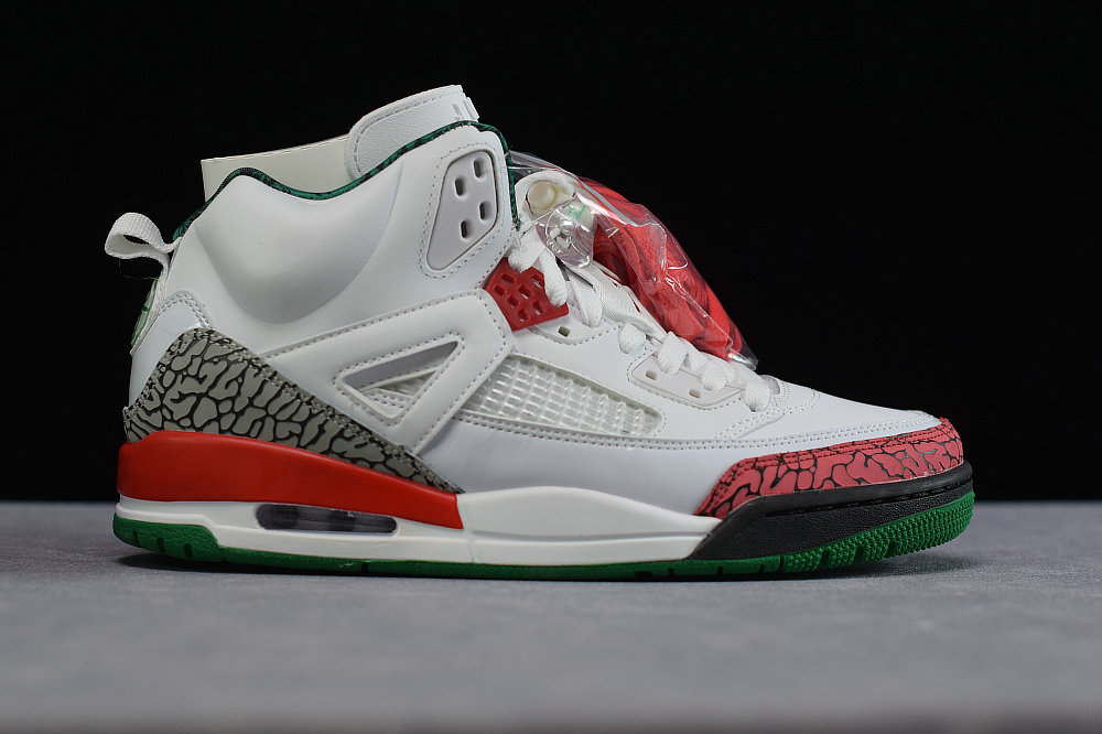 Where To Buy Cheap Nike Air Jordan spizike White Cement Grey-Classic Green-Varsity Red 315371-125