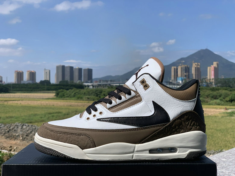 Where To Buy Cheap Nike Air Jordans 3 Brown White Black