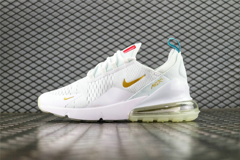 Where To Buy Cheap Nike Air Max 270 Flyknit FIFA World Cup French Champion White Gold AH8050-119