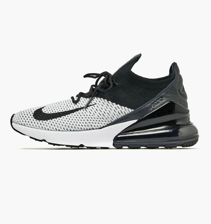 Where To Buy Cheap Nike Air Max 270 Flyknit Fried Food Knit White Black Anthracite AO1023-100