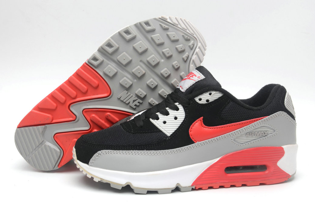 Where To Buy Cheap Nike Air Maxs 90 Black Red Grey White