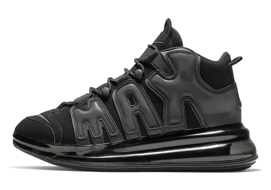 Where To Buy Cheap Nike Air More Uptempo 720 Black BQ7668-001