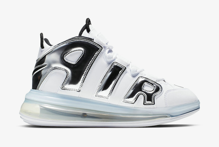 Where To Buy Cheap Nike Air More Uptempo 720 QS White Chrome-Black BQ7668-100