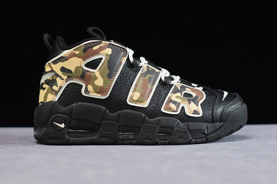 Where To Buy Cheap Nike Air More Uptempo Black Camo CJ0930-001