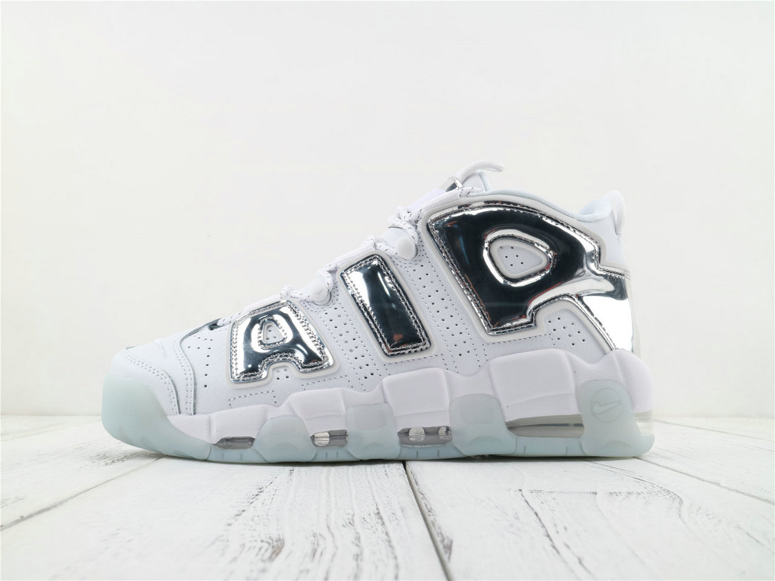Where To Buy Cheap Nike Air More Uptempo White Chrome-Blue Tint 917593 100