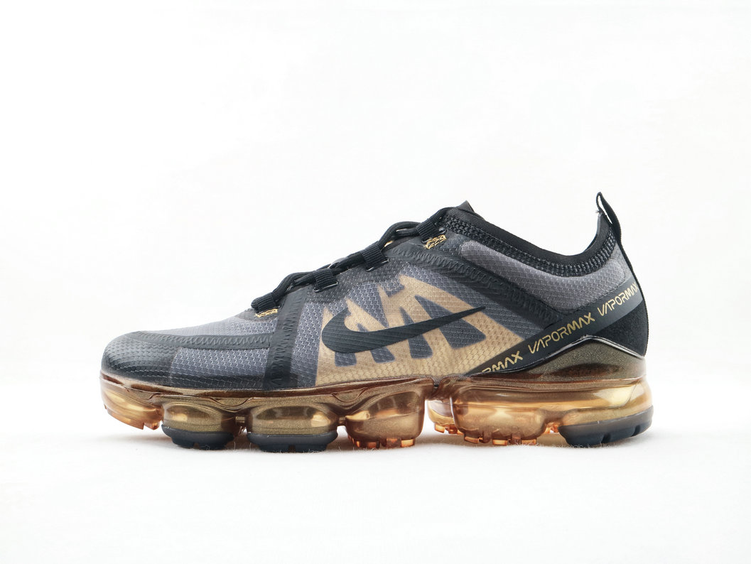 Where To Buy Cheap Nike Air Vapor Max 2019 Black-Black-Metallic Gold AR6631 002