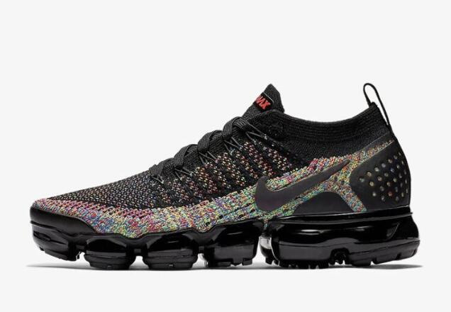Where To Buy Cheap Nike Air VaporMax 2.0 Black Multi-Color Black Racer Pink-Racer Blue-Black 942843-015