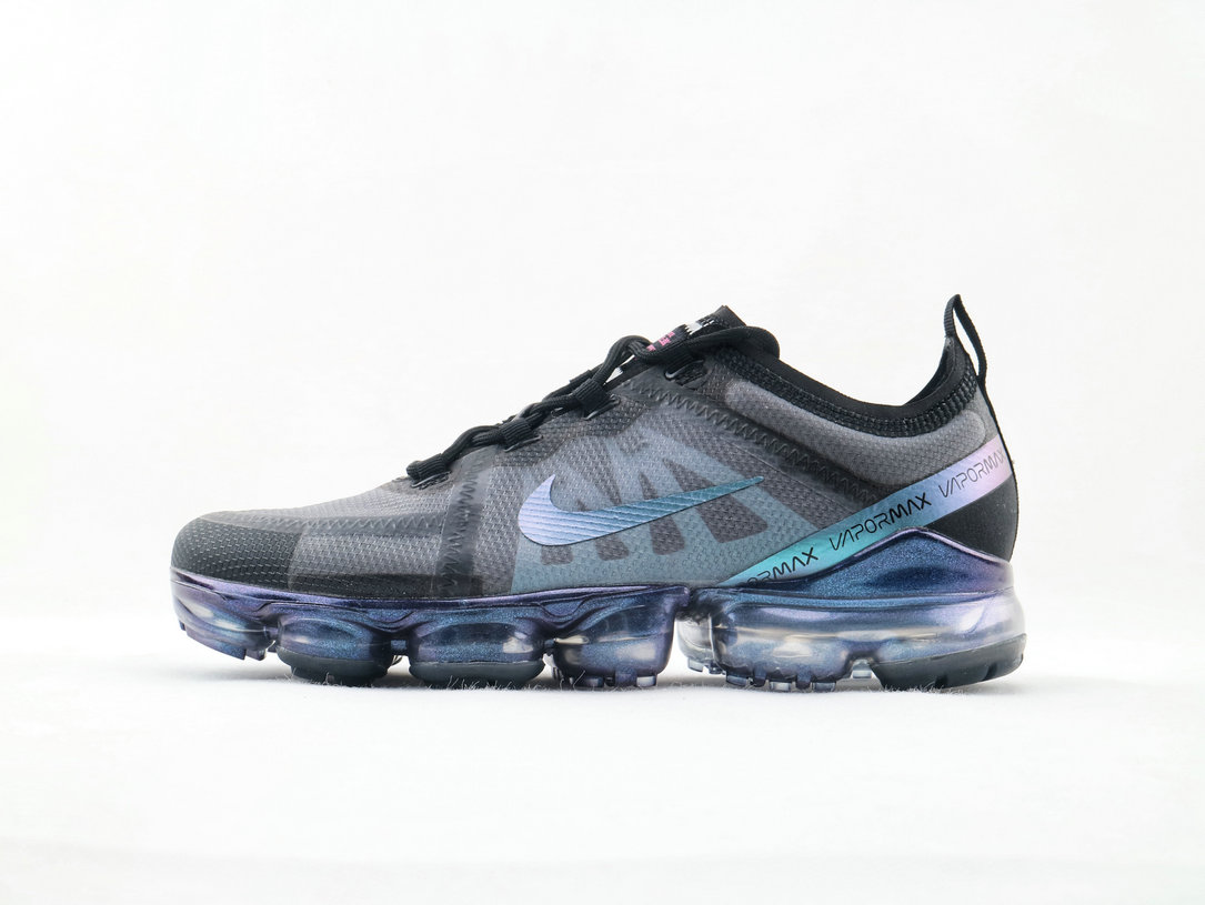 Where To Buy Cheap Nike Air VaporMax 2019 Run Utility Black Blue-Multi Color AR6631-001