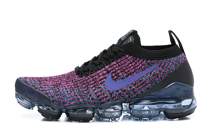 Where To Buy Cheap Nike Air Vapormax 3.0 Black Blue Lagoon-Laser Fuchsia-Metallic Silver AJ6900-009