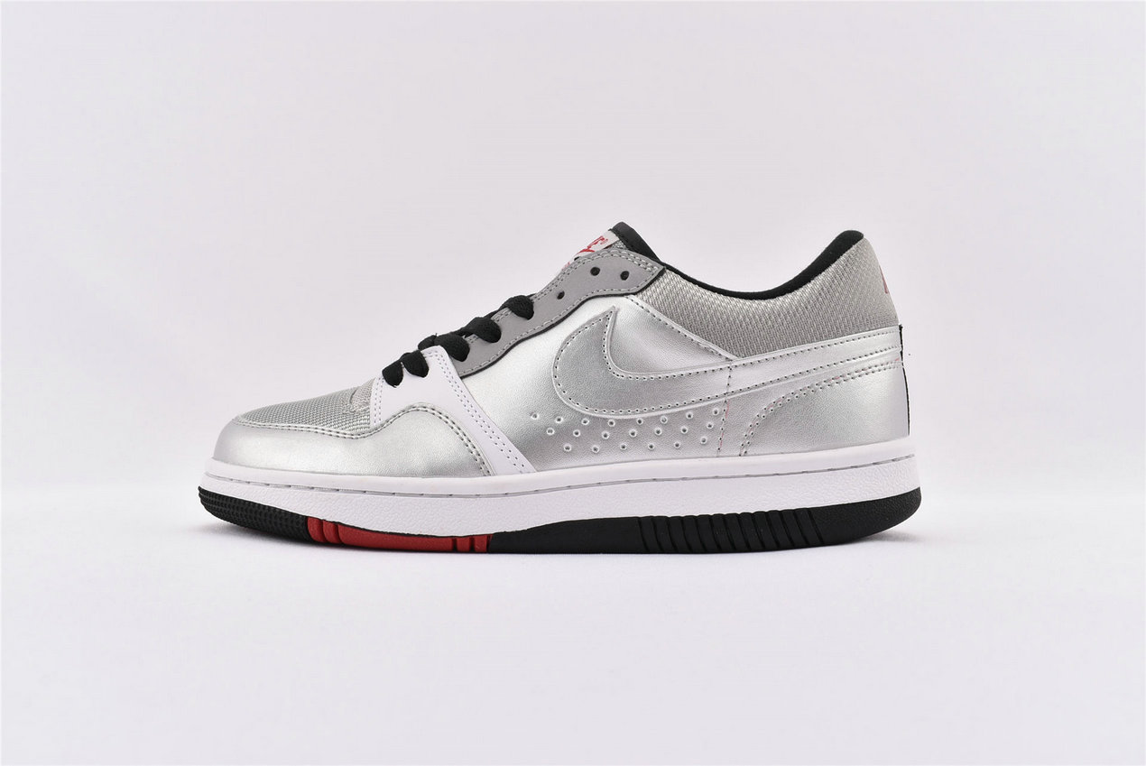 Where To Buy Cheap Nike Court Force Low Basic Metallic Silver 314361-001