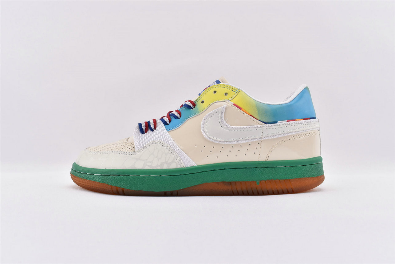 Where To Buy Cheap Nike Court Force Low Premium White-White-Lucid Green-Laser Blue 314428-112