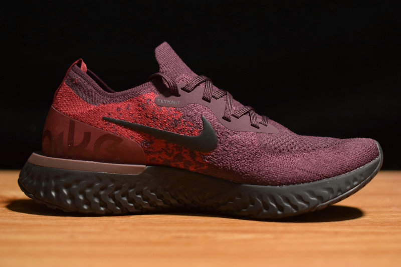 Where To Buy Cheap Nike Epic React Flyknit Burgundy Black AT0054-600