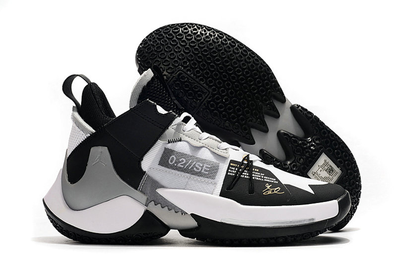 Where To Buy Cheap Nike Jordan Why Not Zer0.2 SE Black White-Silver