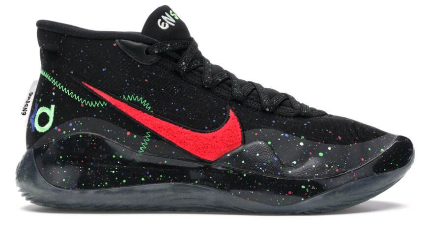 Where To Buy Wholesale Cheap Nike KD 12 Enspire Black Gym Red-Electric Green