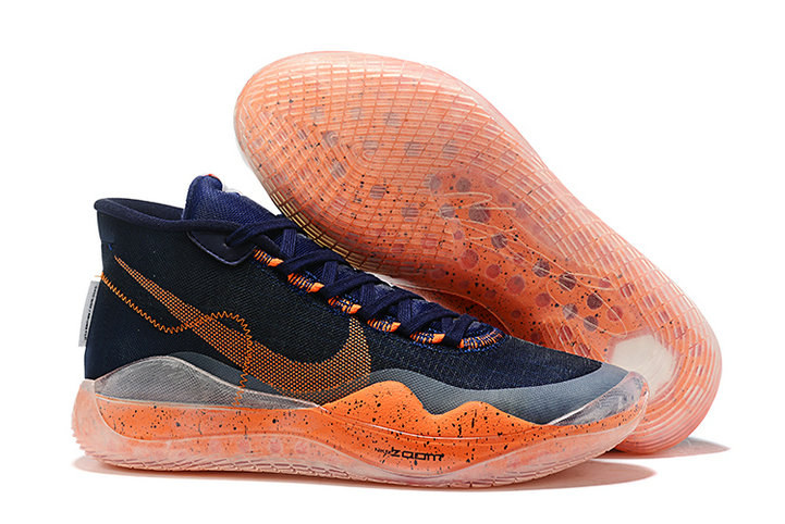 Where To Buy Cheap Nike KD 12 Navy Blue Total Orange