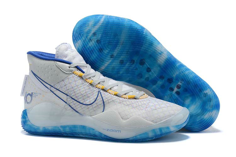 Where To Buy Cheap Nike KD 12 Warriors Home White Game Royal-White-Amarillo